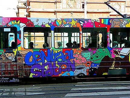 Tram coloré