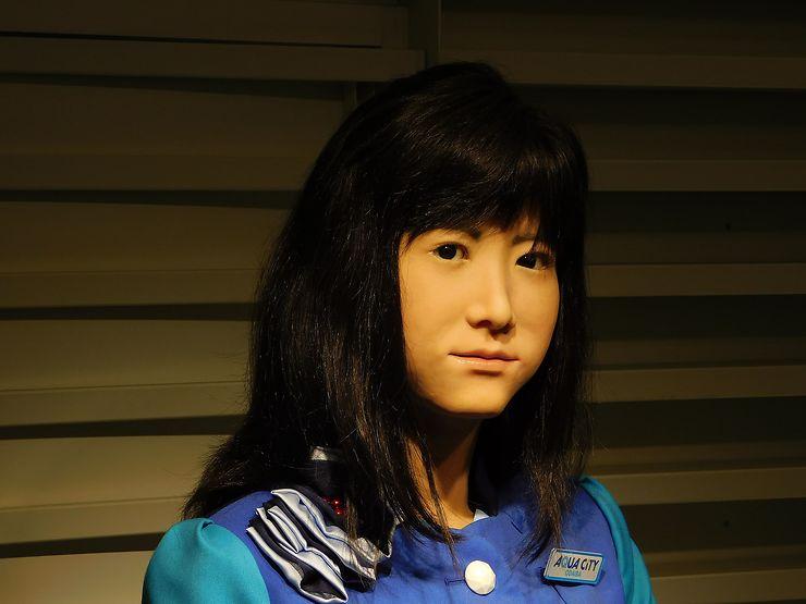 Hôtesse d'accueil androïde, Tokyo, Japon