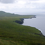 Vue de la côte non loin des Fogher Cliffs