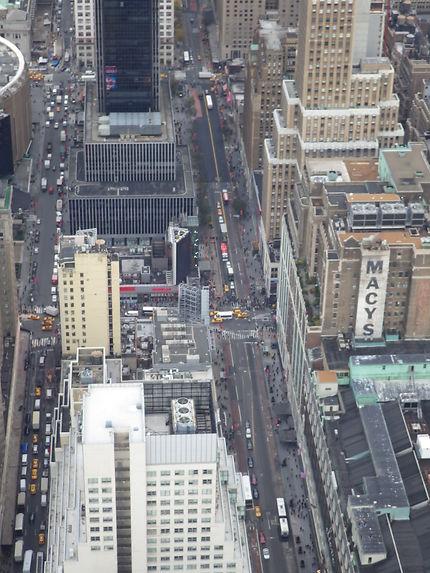 Rue de New York vue du ciel