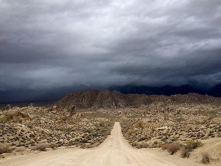 Tempête à Lone Pine, Californie