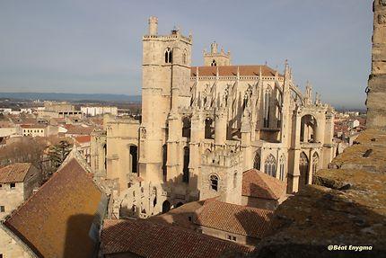 Vue de la Cathédrale du Donjon Gilles Aycelin