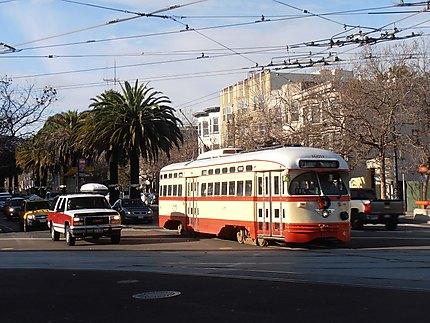 Cable car sur Market Street