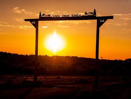 Fin de journée sur Kara Creek Ranch (Wyoming)