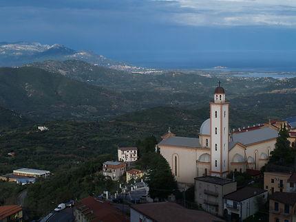 Vue sur Lanusei, Sardaigne