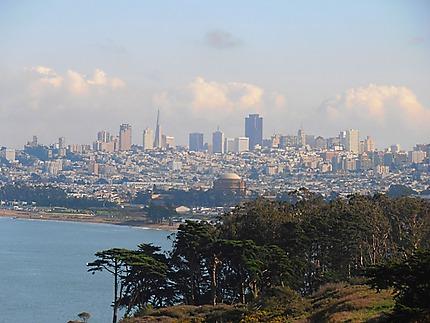 San Francisco depuis le Golden Gate Bridge