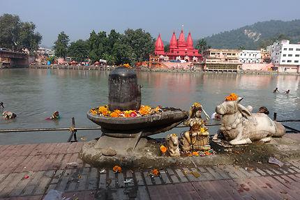 Sur les ghats de Haridwar