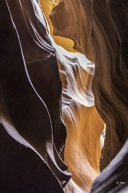 Dégradé d'Antelope Canyon