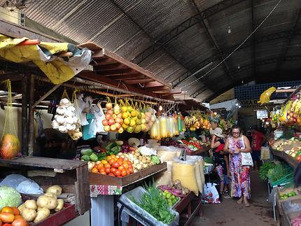 Marché à Macapa, Guyane