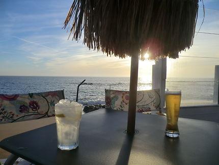Soleil couchant, Praia do Molhe