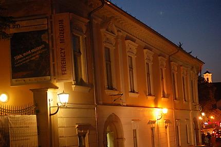 Musée Ferenczy, de nuit