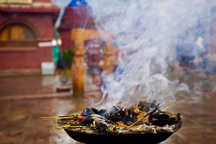 Dans un temple hindou, Katmandou, Népal