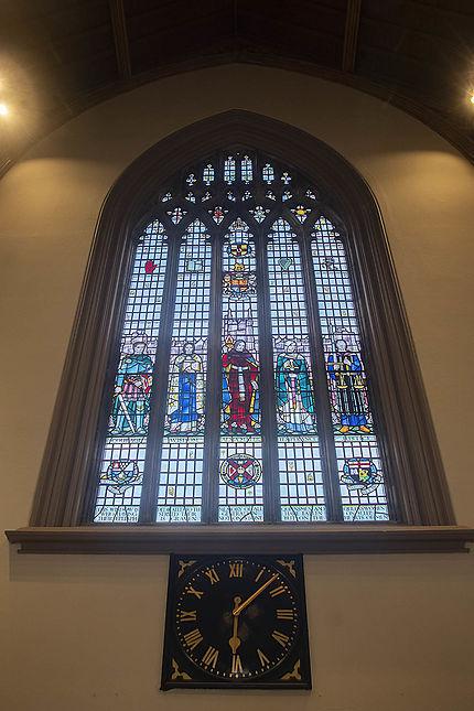 Un des vitraux à l'intérieur de l'université