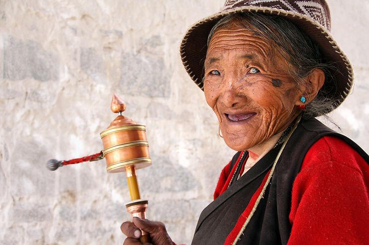 Rencontre au monastère de Gyantse, Tibet