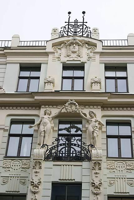 Riga : bâtiment Art Nouveau