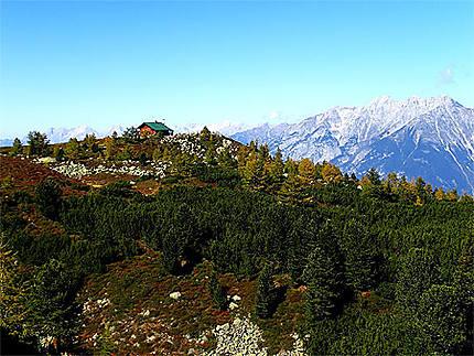 Jolie maison sur la montagne