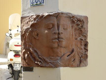 """Coin de façade """"les amoureux"""""""