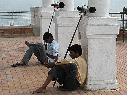 Des binoculaires