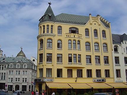 Riga : bâtiment des chats