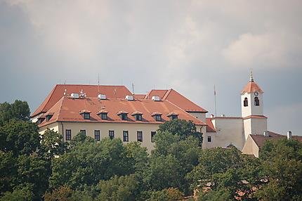La château vu de la colline de la cathédrale