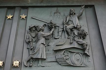 Détail du portail d'entrée au mémorial de Vítkov