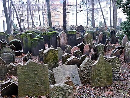 Tombes du cimetière juif Stara Zidovsky Hrbitov