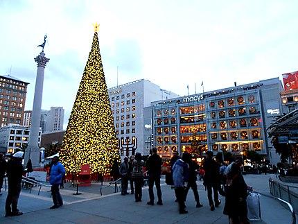 Union Square décoré pour Noël