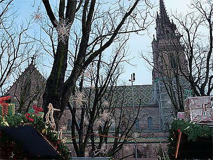La cathédrale de Bâle durant Noël