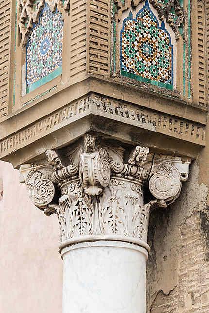 Détail d'un pilier de Bab Mansour