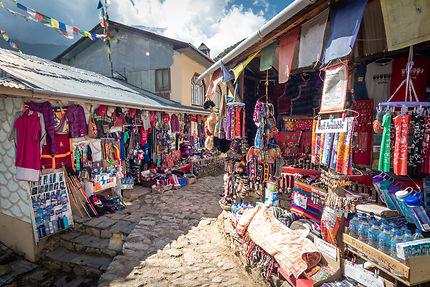 Ruelle à Namche Bazar, Népal