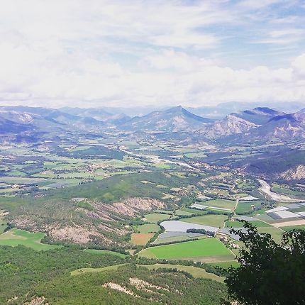 Vue du haut de la montagne de chabre, hautes alp