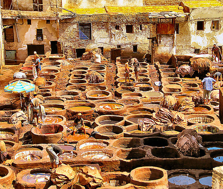 La tannerie de Chouara, Fès, Maroc