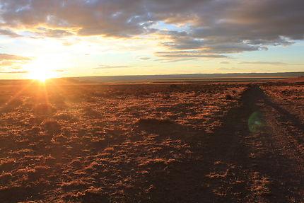 Coucher de soleil dans la Pampa