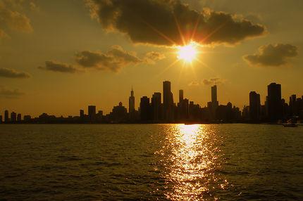Coucher de soleil à Chicago