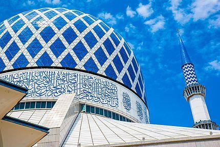 Dôme de la Mosquée Bleue Selangor