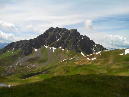 Vue du Geistein depuis le Schusterkogel, Autriche