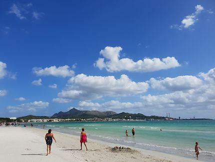 Alcudia playa, Majorque