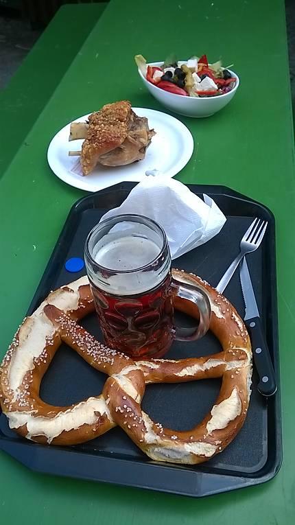 Plateau repas de spécialités allemandes