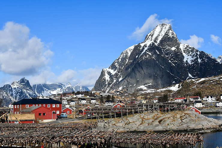 Village dans les Lofoten, Norvège