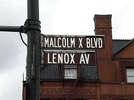 Malcom X Avenue à Harlem