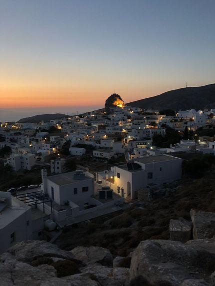 Coucher de soleil à Amorgos, Chora
