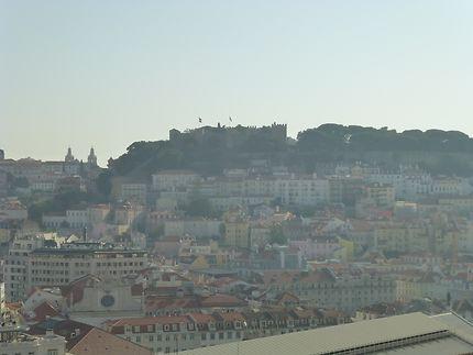 Vue sur le Castello, Lisbonne