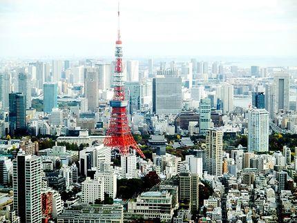 Vue sur la tour de Tokyo