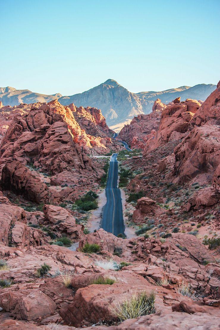 Dans la chaleur de Valley of Fire, Nevada