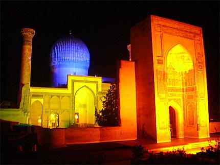 Gour Emir by night