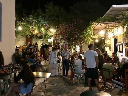 Chora Amorgos pendant la nuit