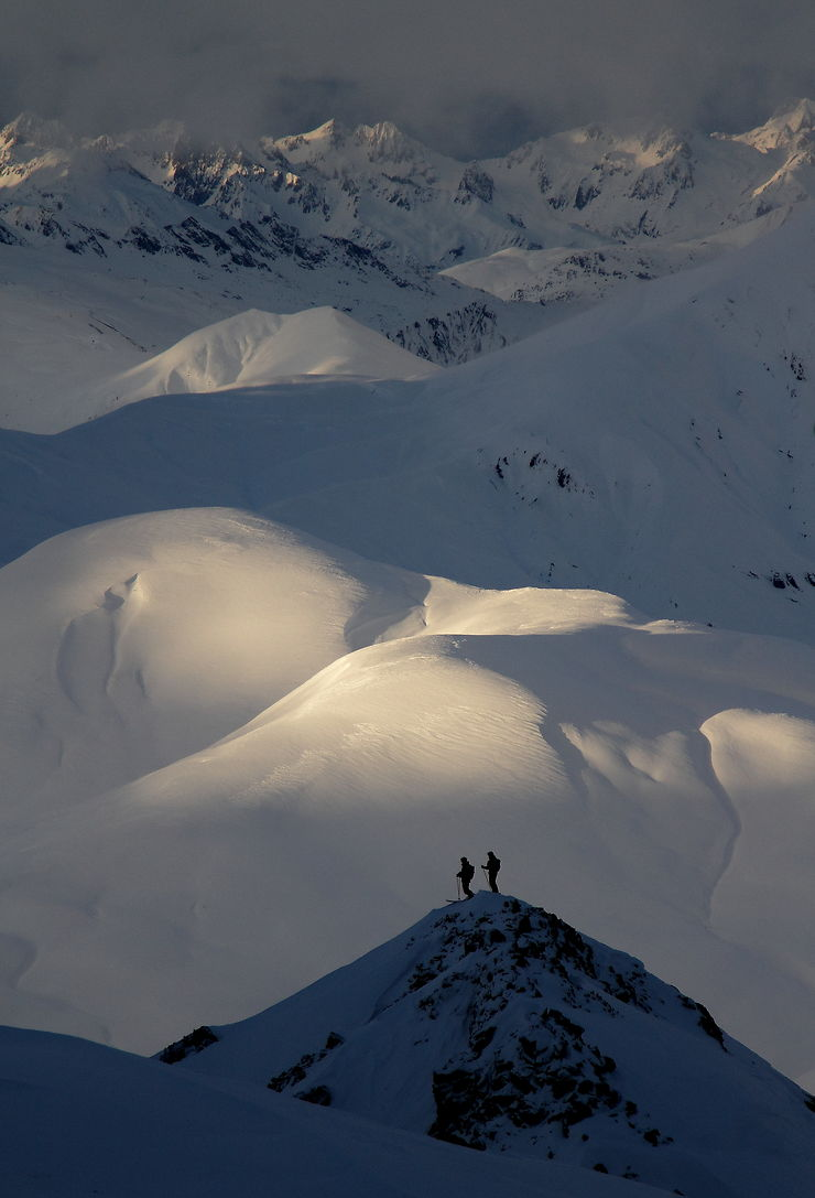 Fin de journée à la Grave, Alpes
