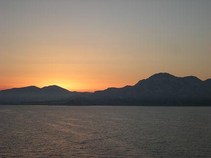 Soleil couchant en Corse