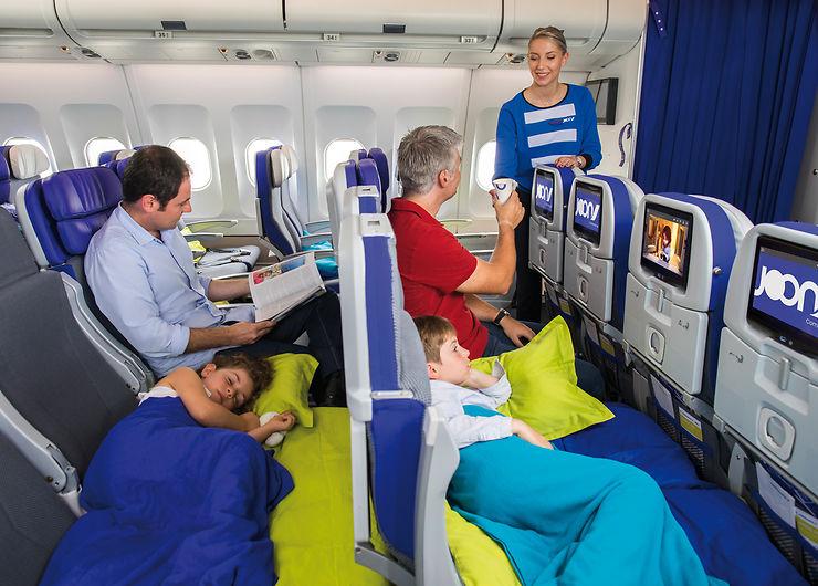 Air France Joon  - Des sièges transformables en lit ou aire de jeux pour les enfants