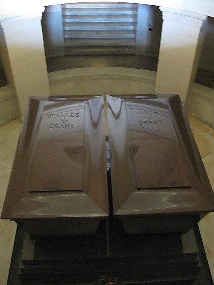 Cercueils du général Grant et de sa femme